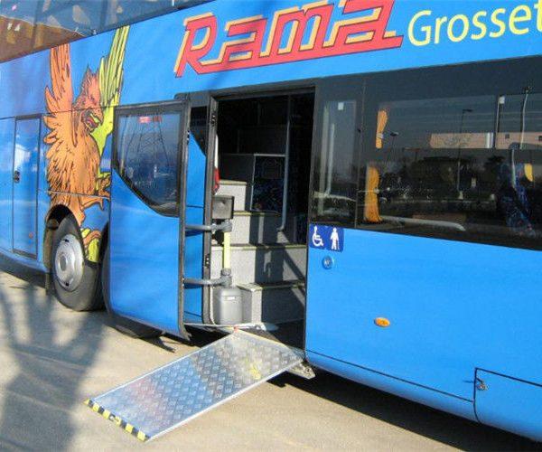 electrical bus door ramp