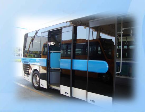 sliding plug bus door